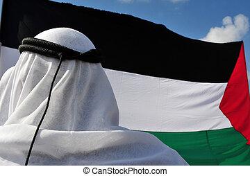 阻塞, 抗議, activists, 針對, gaza