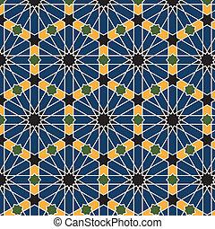 阿拉伯語, seamless, 圖案