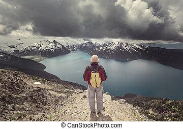 阿爾卑斯山的湖