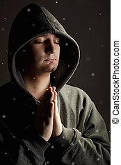 降雪, 祈ること, 人