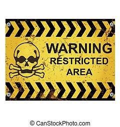 限られた, 印, 区域, 警告