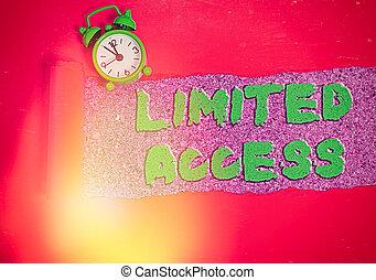 限られた, 概念, access., points., 印, かなり, 数, テキスト, 写真, 提示, 限られた, 小さい, アクセス, 持つこと