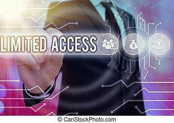 限られた, access., points., 概念, かなり, 単語, ビジネス, 執筆, テキスト, 小さい, 持つこと, 限られた, 数, アクセス