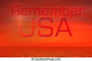 陣亡將士紀念日, 美國