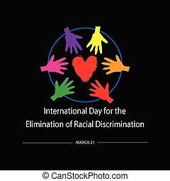 除去, インターナショナル, 21, 人種的, 3月, discrimination., 日