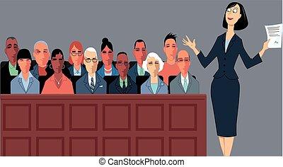 陪審, 弁護士