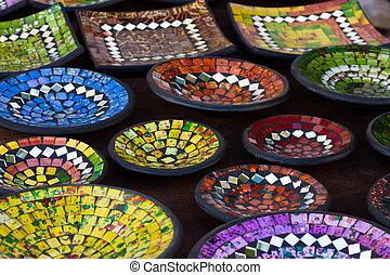 陶器, カラフルである