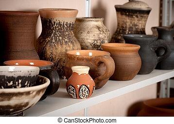 陶器, 粘土, セラミックス