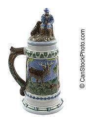 陶瓷制有盖啤酒杯