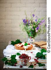 陶瓷, 新鲜, cup., 无核小葡萄干, 红