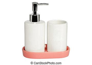 陶瓷, 白色, 放置, 背景, 洗澡