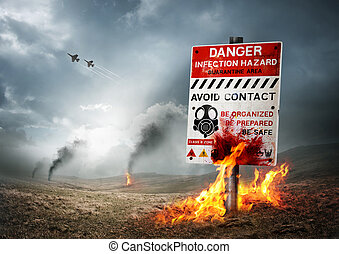 陸地, 污染