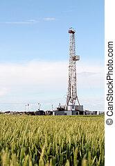 陸地, 石油操練, 裝置, 石油, 工業
