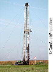 陸地, 石油操練, 裝置, 重, 工業