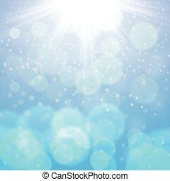 陽光普照, 冬天, 背景, 天