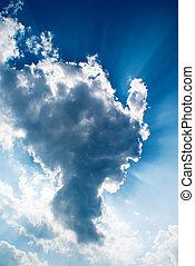 陽光, 雲