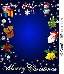陽気, プラカード, 背景, カード, クリスマス