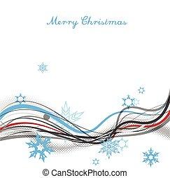 陽気, ライン, 雪ははげる, top., 背景, クリスマス