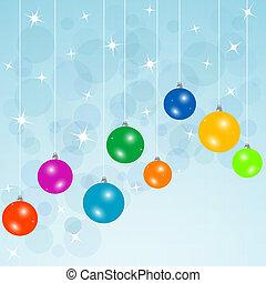 陽気, 優雅である, 挨拶, 背景, クリスマスカード