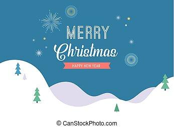 陽気, 旗, 挨拶, 不思議の国, 背景, minimalistic, クリスマスカード, 冬