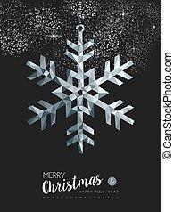 陽気, christmasr, 銀, 雪, グリーティングカード, デザイン