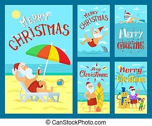 陽気, claus, 冒険, ホリデー, santa, クリスマス