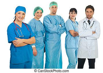 隊, 醫院, 婦女, 她, 醫生