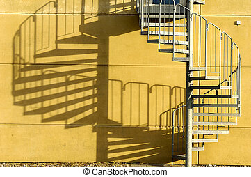 階段, そして, 陰