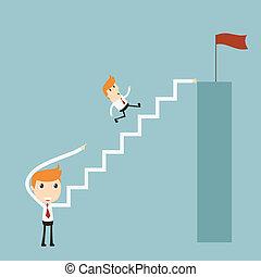 階段, へ, 成功