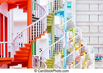階段, らせん状に動きなさい, シンガポール