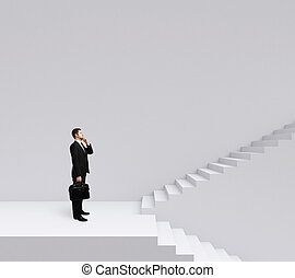 階段, ビジネスマンの地位