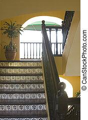 階段, ホテル, 古い
