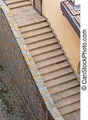 階段, 対角線