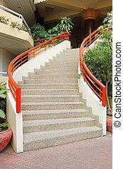 階段, 曲がった