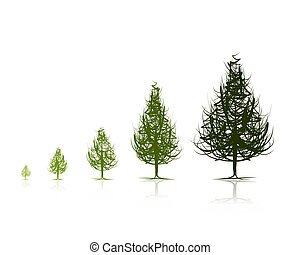 階段, ......的, 生長, 樹, 為, 你, 設計