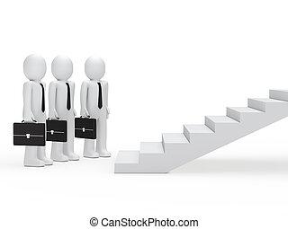 階段, 3, ビジネスマン