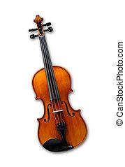 隔离, 小提琴, 白色