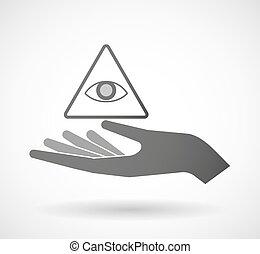 隔离, 手, 给, 一, 所有, 看见, 眼睛