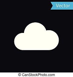 隔離された, イラスト, バックグラウンド。, ベクトル, 黒, 白い雲, アイコン