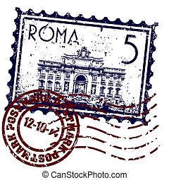 隔離された, イラスト, ローマ, 単一, ベクトル, アイコン