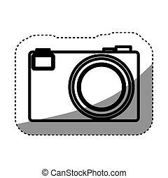 隔離された, カメラ, 装置, デザイン