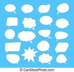 隔離された, グラフィック, スピーチ, 平ら, concept., 漫画, デザイン, イラスト, ベクトル, 泡