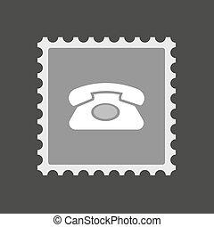 隔離された, メール, 切手アイコン, ∥で∥, a, レトロ, 電話サイン