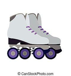 隔離された, ローラー スケート