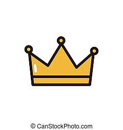 隔離された, 国王の王冠, デザイン, ベクトル