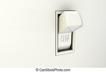 隔離された, 壁, スイッチ, 中に, ∥, 上に, ポジション