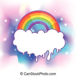 隔離された, 挨拶, tシャツ, イラスト, ベクトル, lgbt, 虹, community., ゲイである, rays., シンボル, プリント, カード, pride., ポスター, パッチ
