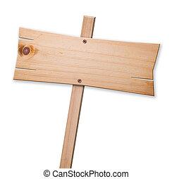 隔離された, 木製の印