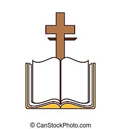 隔離された, 聖書, 交差点, アイコン