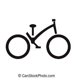 隔離された, 自転車, シルエット